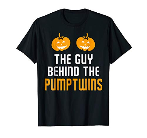Funny Mens The Guy Behind The Pumpkin Twins Shirt Halloween