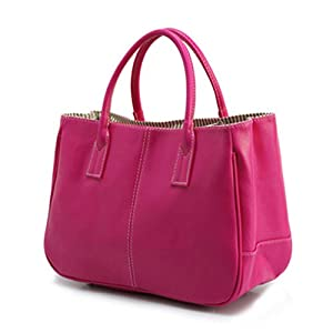 LOMOL Womens Fashion Leather Small Simple Tote Top-handle Handbag(C7)