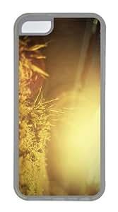 case free cases grass sun light TPU Transparent Case for iphone 5C
