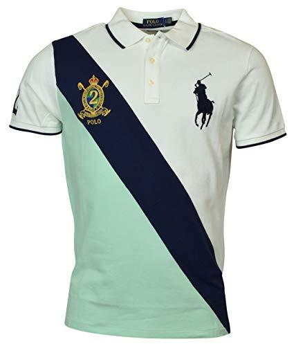 Polo Ralph Lauren Mens Big Pony Custom Slim Fit Big Pony Crest Polo (X-Large, Green)