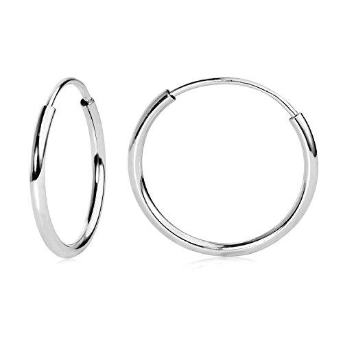14k WG Endless Hoop Earrings 12mm 41200