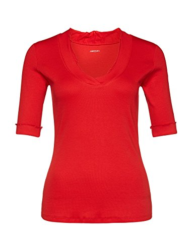 Marc Cain Essentials, Camiseta para Mujer Rot (scarlet 272)