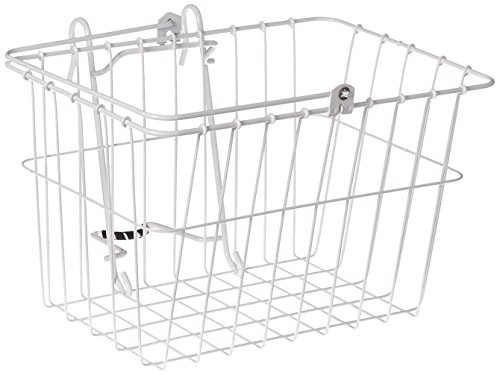 "Wald Standard Bicycle Lift Off Basket, #133 White 14.5"" x 9."