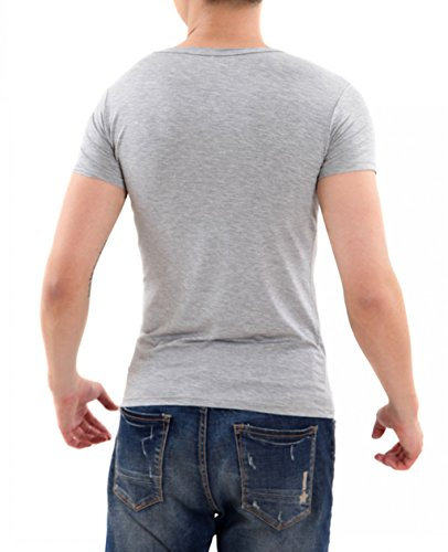DarDuGo Men's Slim Fit Crew Neck T-Shirt Gray US Small With Tag XL