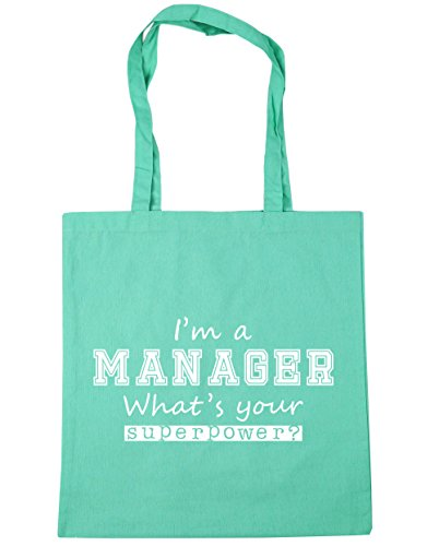 I'm Your Tote x38cm litres HippoWarehouse Bag Gym 10 Mint a 42cm Beach What's Shopping Manager Superpower HYIxRdqx