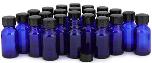 Vivaplex, 24, Cobalt Blue, 15 ml Glass Bottles, with Lids