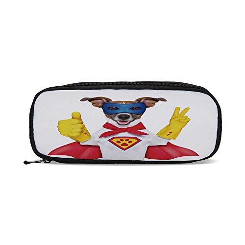 Superhero,Super Puppy Hero Dog in Cape and Mask Costume Humor Funny Cute Picture Decorative,9.4