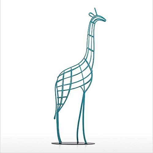 Giraffe Sculpture, Modern Minimalistic Animal Metal Artwork, Living Room Study Office Decoration Crafts Statue Gift