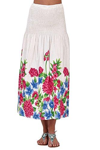 Robe longue Rose Large Mi 1 Coton Floral Jupe En Pour Pistachio Imprimé 3 Bandeau Fleur Femmes zPwFqBqU