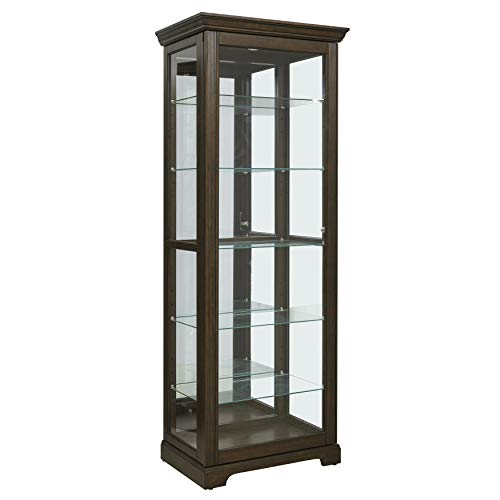 - Pulaski  Locking Sliding Door Curio Display Cabinet, 29.25