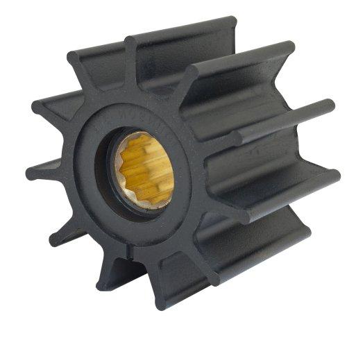 "Jabsco 17935-0001P Marine Replacement Impeller (Neoprene, Q Silhouette, 2.5"" Deep, #7 Spline Drive, 1"" Shaft, 12 Blade, 3.75 Diameter, Brass Insert) primary"