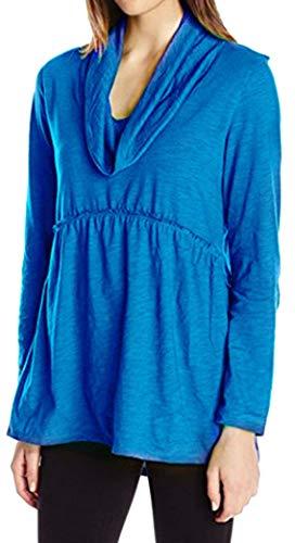 Yeesea Donna Manica Lunga Sciolto Casual Magliette Camice Base Tunica Camicetta Tops Blu