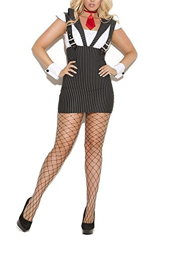 RunningTime Women's Machine Mobster Roleplay Costume as pictureLarge Hot