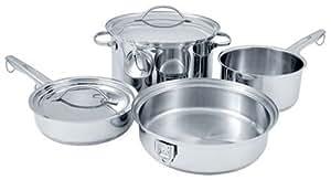 Cuisinart STOW-8 Stowaway 8-Piece Stainless-Steel Cookware Set