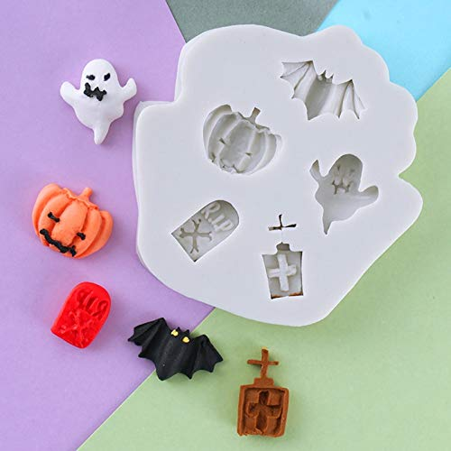 Cake Molds - Pumpkin Head Bat Tombstone Spirit Fondant Mould Halloween Molds Baking Chocolate Resin Moulds - Healthy Molds Decorating Circle Round Ring Square Letters Shapes Shape Giraffe Re ()
