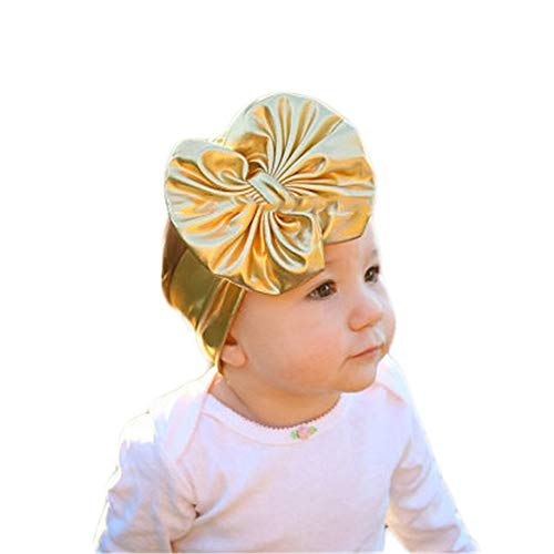 (Believe in yourself Baby Gold Big Bow Headband with Children Cute Photo Shoot Headband, 3 Pieces (Color :)