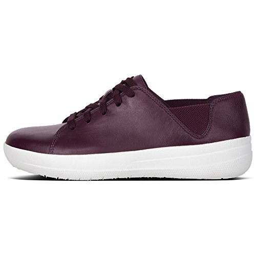 Sporty Violet F Sneaker Plum Deep FitFlop Baskets Laceup 398 Femme Blanc 56dxqw0