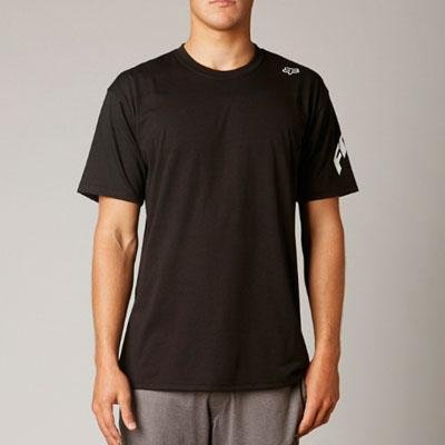 Fox Racing Mens Tressor Tech Short-Sleeve Shirt, Black, Large