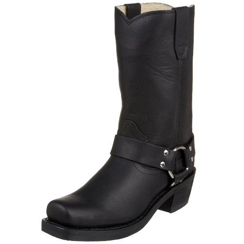 Womens Black Harness Boots - 1
