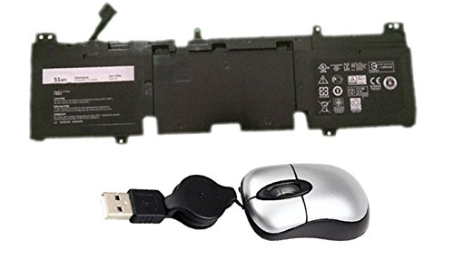 Amsahr 3V8O6-05 Replacement Battery for Dell 3V806, Alienware ECHO13, QHD, 13ALW13ED-1608, 13ALW13ED-2608, Includes Mini Optical Mouse