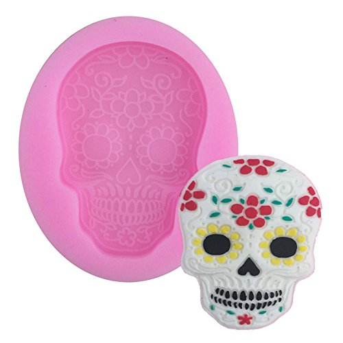 1 piece Halloween Skull Shape Silicone Cake MoldNon-Stick 3D Bakeware Mould For Chocolate Clay Cookie Fondant Cake Decoration Tools