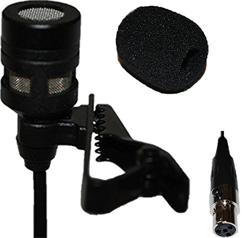 - Lavalier Lapel Mic with 4 pin mini XLR TA4F Connector for Shure