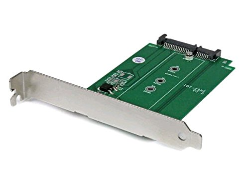 StarTech.com M.2 to SATA Expansion Slot Mounted SSD Adapter - NGFF Solid State Drive to SATA Converter - PCI or PCI-express Slot Mounted(S32M2NGFFPEX)