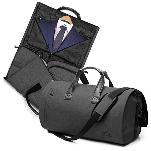 (2 In 1 Garment Bag With Shoulder Strap, Convertible Suit Travel Duffel Bag Carry On Bag With Luggage Strap )
