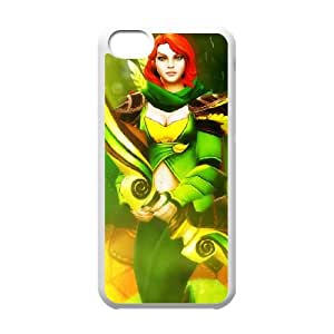 iPhone 5c Cell Phone Case White Defense Of The Ancients Dota 2 WINDRANGER Qiiza