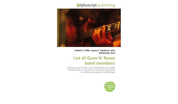 List of Guns Nroses Band Members: Amazon.es: Miller, Frederic ...
