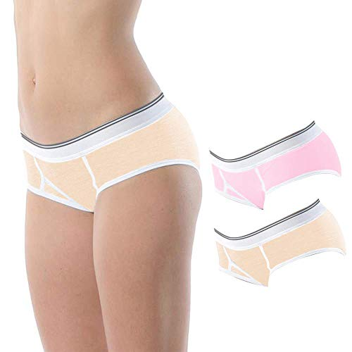 Vipex 2 Pack Boyshort Panties for Women Cotton Stretch Short Panties Comfortable Fit Boxer Briefs
