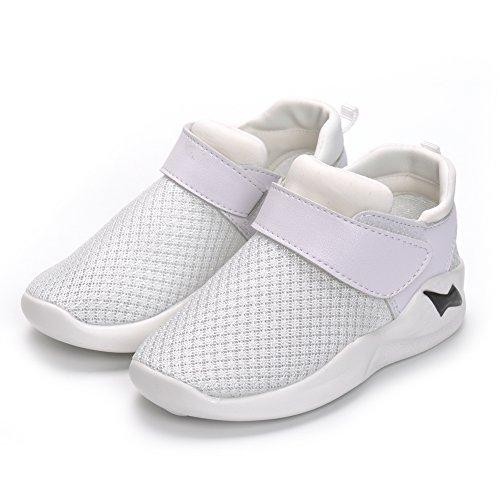 MK MATT KEELY Kids Mesh Running Sneakers Baby Boys Girls Anti-Slip Casual Shoes White 26 by MK MATT KEELY (Image #2)
