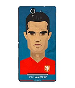ColorKing Football Persie Holand 01 Blue shell case cover for Sony Xperia C3