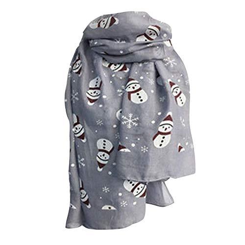 mn Winter Warm Snowman Print Shawl Scarves for Women ()