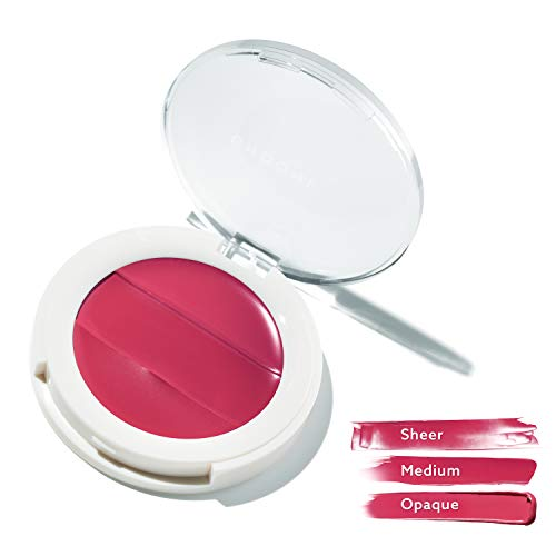 (3-in-1 Lip + Cheek Cream. Coconut Extract for Radiant, Dewy, Natural Glow - UNDONE BEAUTY Lip to Cheek Palette. Blushing, Highlighting & Tinting. Sheer to Opaque Color. Vegan & Cruelty Free. BERRY)