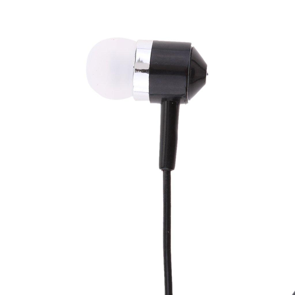etc PuXing PHS Blanc Linton MagiDeal /Écouteur Intra-auriculaire Talkie-walkie Radio 2 Voies PTT Microphone Oreillette 2 Jacks Universel pour Kenwood