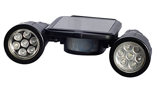Price comparison product image Solar Powered Security Two Super Bright Spot Lights with Motion Detector
