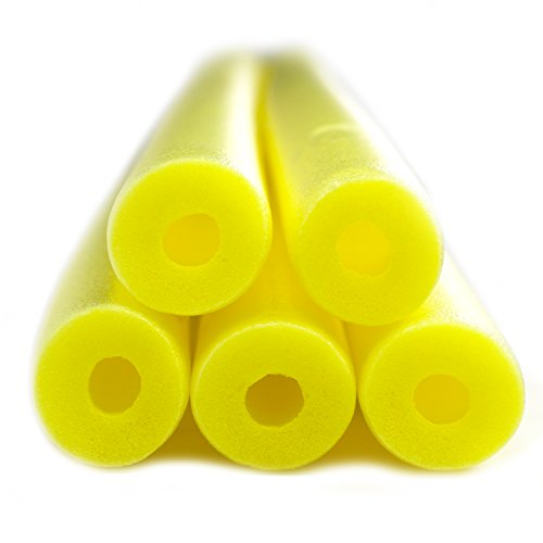 Fix Find 5 Pack of 48 inch Flexible Colorful Foam Swim/Float/Pool Noodles - - Yellow Pool