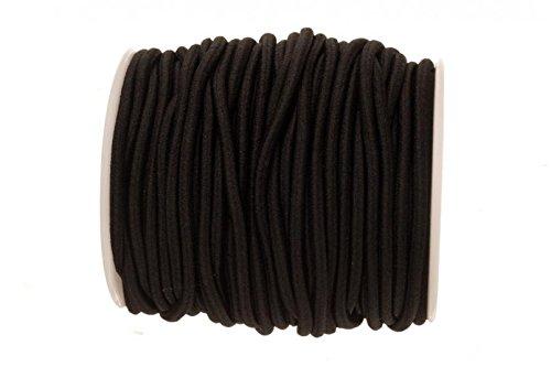 Black Bracelet Elastic Cord For Slip-On Bracelets Or Watch Bands (3 Mm Thread)