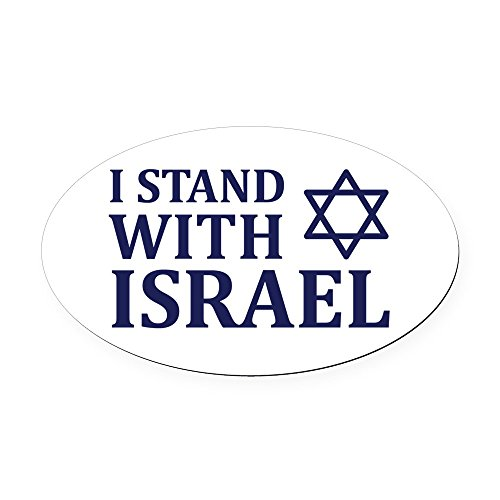 CafePress - I Stand with Israel Oval Car Magnet - Oval Car Magnet, Euro Oval Magnetic Bumper Sticker -