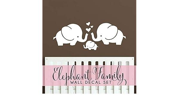 Lindos Corazones de Elefantes Familia Tatuajes de Pared Bebé Nursery Decor Habitación de Niños Pegatinas de Pared Hipster Moderno Retro Vintage Decoración de Interiores 35x92 cm: Amazon.es: Bebé