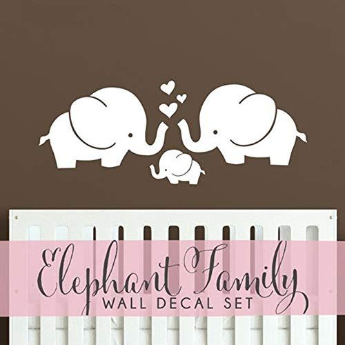 Lindos Corazones de Elefantes Familia Tatuajes de Pared Bebé ...