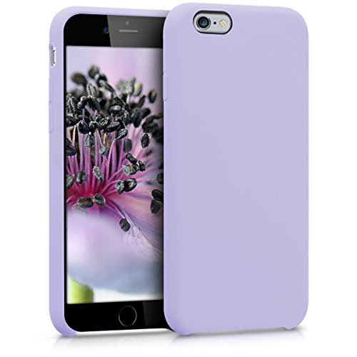 (kwmobile TPU Silicone Case for Apple iPhone 6 / 6S - Soft Flexible Rubber Protective Cover - Lavender)