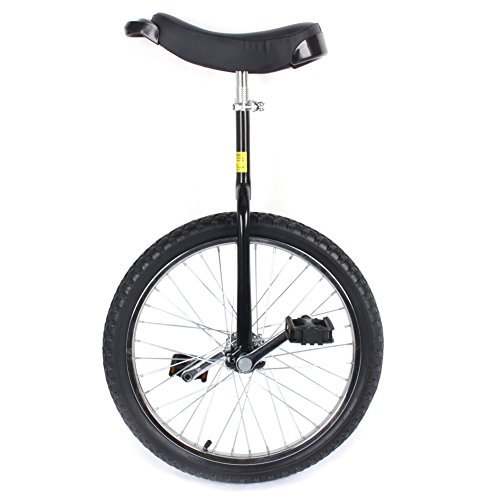 Chrome Unicycle,20'' Tire Classic Chrome Unicycle Wheel Cycling Bike Mountain With Comfortable Release Saddle Seat US SHIP for Exercise Balance Fitness Outdoor by Estink (Image #1)