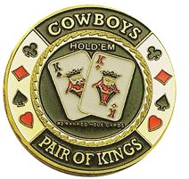 DA VINCI Hand Painted Poker Card Guard Protector, - Poker Cowboys