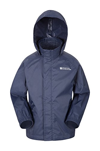 Mountain Warehouse Pakka Kids Rain Jacket - Waterproof - Girls & Boys Dark Blue 13 Years