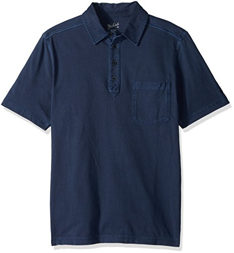 Woolrich Mens Polo Shirt (Woolrich Men's Double Forks Modern Fit Polo, Faded Indigo, Large)