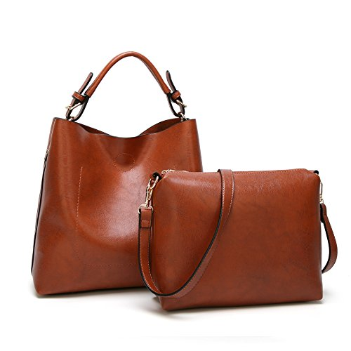 (Obosoyo Women Shoulder Tote Satchel Bag Lady Messenger Purse Top Handle Hobo Handbags)
