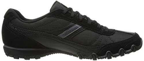 Skechers Women's Bikers Sneakers,Black,5.5 M US