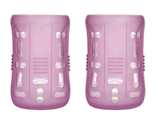 Born Free Bornfree 2x Silicone Sleeves for 9oz. Glass Bottles - Pink